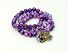 purple lilac resin bead w metal saints